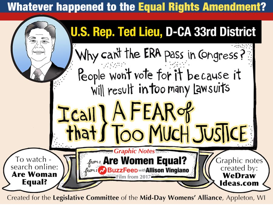 US Senator Ted Lieu on the importance of passage of the Equal Rights Amendment