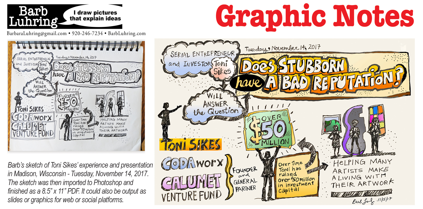 Sketch Notes: Small scale graphic recordings provide audience engagement after the event!
