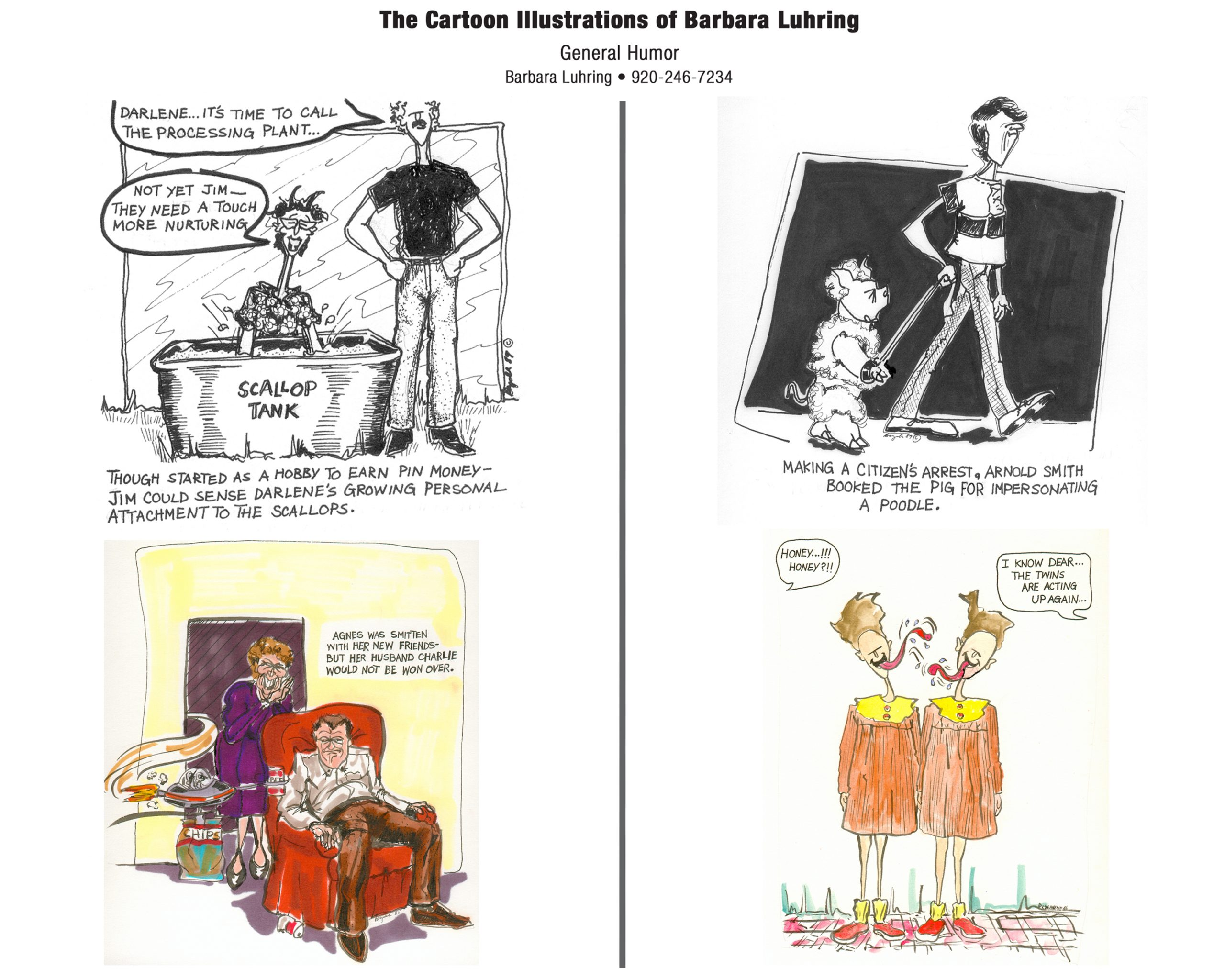 Funny Cartoons by Barb Luhring