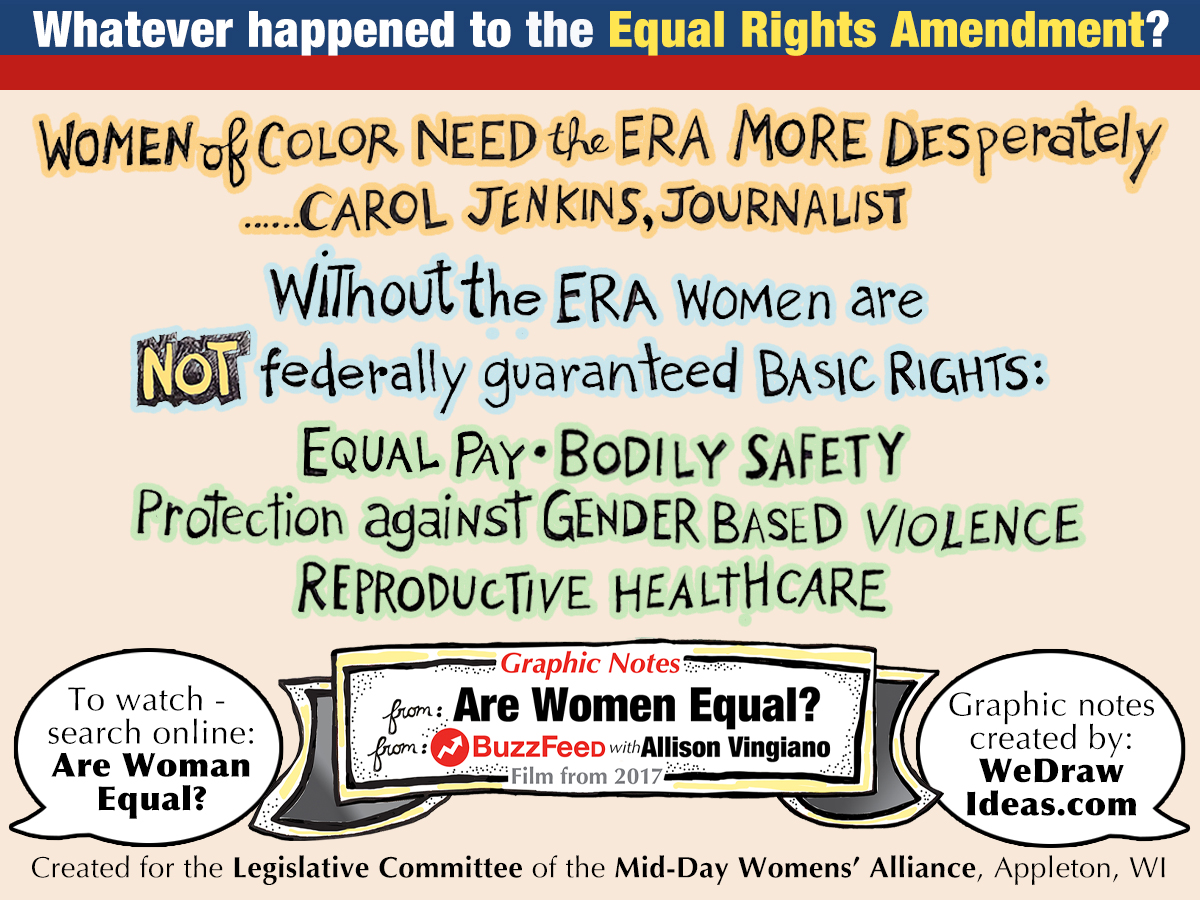Without the ERA women are NOT federally guaranteed basic rights.